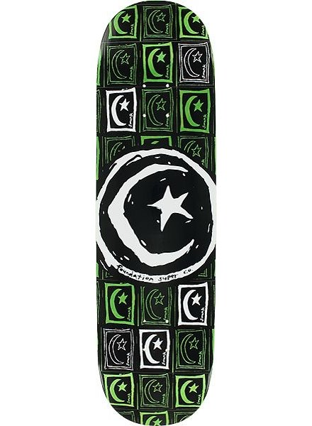 FOUND STAR & MOON SQUARE REPEAT SKATE DECK 8.5