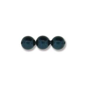 Austrian Swarovski Crystal Pearl, 4 mm, Petrol, 25 pcs