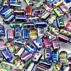 Czech Rulla Beads, Magic Blue Pink, 25g