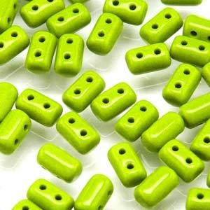 Czech Rulla Beads, Opaque Green, 25g