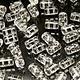 Czech Rulla Beads, Transparent Crystal, 25 g