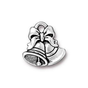 Helby Celebration Bells Charm, Antique Silver