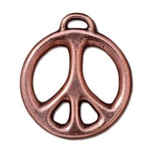 "1"" Peace Pendant, Copper"