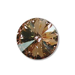 Austrian Swarovski Rivoli, 14 mm, Crystal Gold Shadow