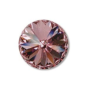 Austrian Swarovski Rivoli, 14 mm, Light Rose