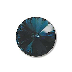 Austrian Swarovski Rivoli, 14 mm, Denim Blue