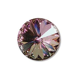 Austrian Swarovski Rivoli, 12 mm, Crystal Light Vitrail