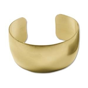Helby Raw Brass Cuff 1""