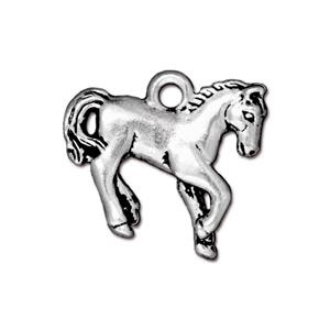 Horse Charm, Antique Silver