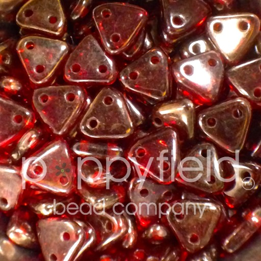 Czech CM Triangle, 6 mm, Ruby Silversheen, 10 g