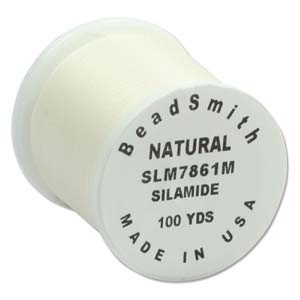 Helby Silamide Thread A, Natural, 100yd Spl