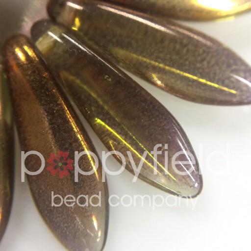 Czech Daggers, 5X15, Bronze Green, 50 pcs