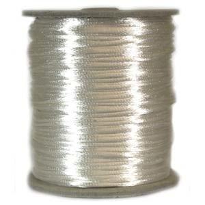 USA Satin Cord (Rattail), 2mm, Ivory, per 1 yd