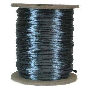 USA Satin Cord (Rattail), 2mm, Teal, per 1 yd