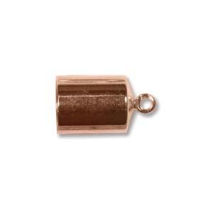 Helby Barrel Endcaps, Bright Copper Finish, 6mm, 2 pcs