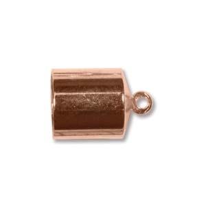 Helby Barrel Endcaps, Bright Copper Finish, 8mm, 2 pcs