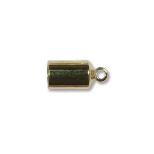 Helby Barrel Endcaps, Bright Gold Finish, 4mm, 2 pcs