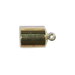 Helby Barrel Endcaps, Bright Gold Finish, 6mm, 2 pcs