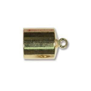 Helby Barrel Endcaps, Bright Gold Finish, 8mm, 2 pcs