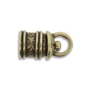Israel Revolving End Cap, Antique Brass Finish, 5 mm, 2pcs