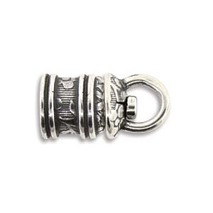 Israel Revolving End Cap, Antique Silver Finish, 5 mm, 2pcs