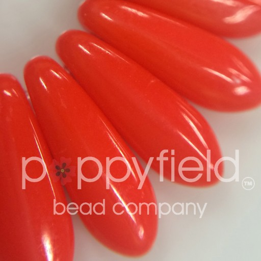 Czech Daggers, 3X11, Red Coral, 50 pcs