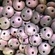 Czech 2-HOLE-LENTIL, 6 mm, Metallic Suede Pink
