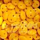 Czech 2-Hole Lentil, 6 mm, Opaque Sunflower Yellow
