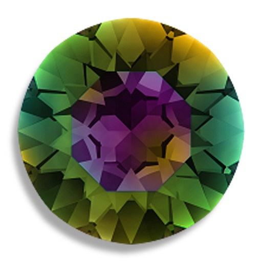 Austrian Swarovski Rivoli, 27 mm, Crystal Medium Vitrail