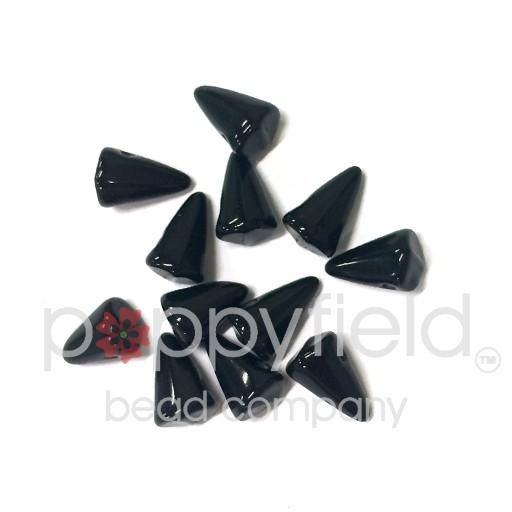 Czech Spikes, 5X8, Black, 12 pcs