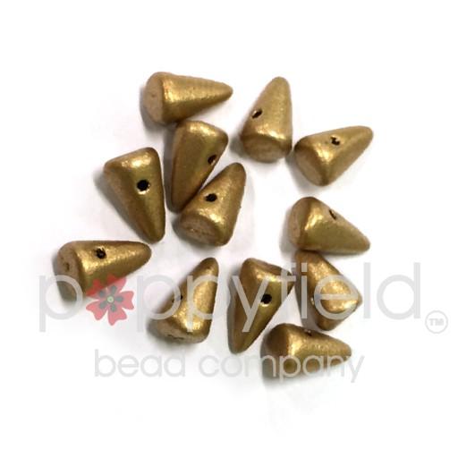 Czech Spikes, 5X8, Light Gold, 12 pcs