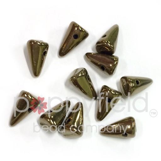 Czech Spikes, 5X8, Bronze, 12 pcs