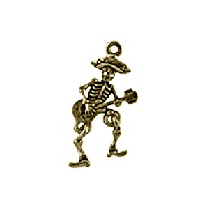 Full Skeleton with Guitar, Gold Plate