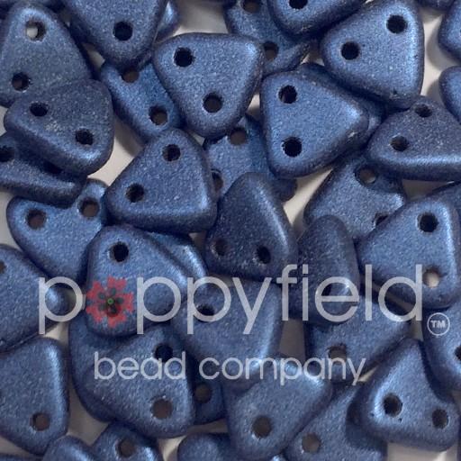 Czech CM Triangle, 6 mm, Metallic Suede Blue, 10 g