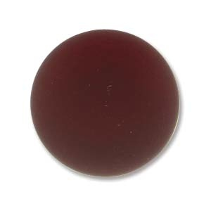 Luna soft resin cabochon, 18 mm, Garnet