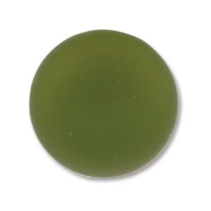 Luna soft resin cabochon, 18 mm, Olive
