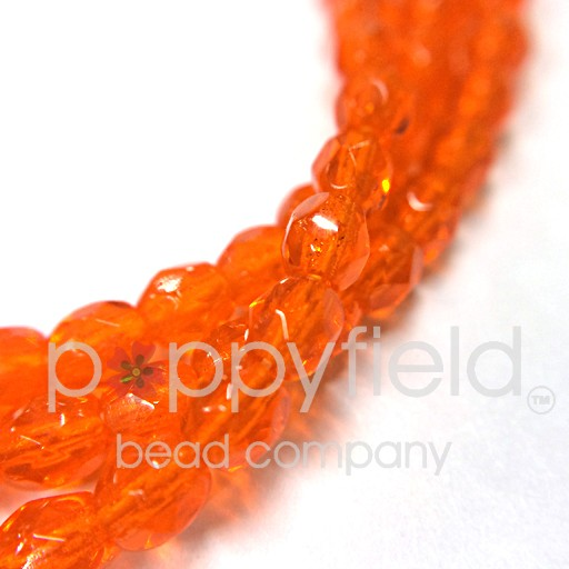 Czech Czech Fire Polish, 3 mm, Transparent Orange
