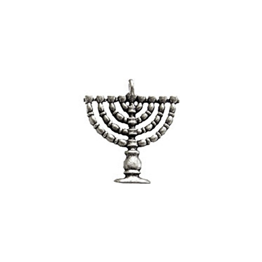 Chanukiah Menorah Charm, Pewter