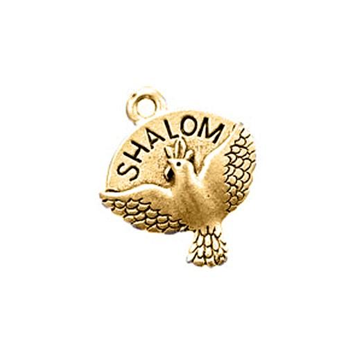 Dove Shalom, Antique Gold