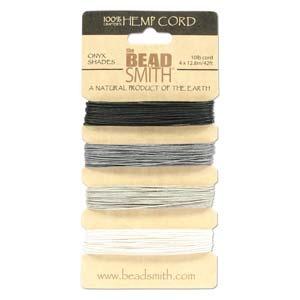 Hemp, 4 Color Card, Onyx Shades, 30 FT