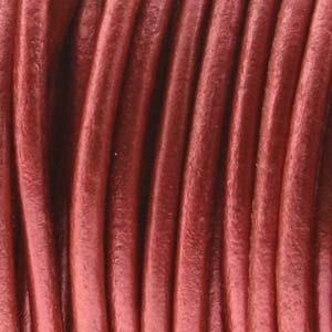 Helby LEATHER CORD, Metalic Russet, 1 MM, 1FT