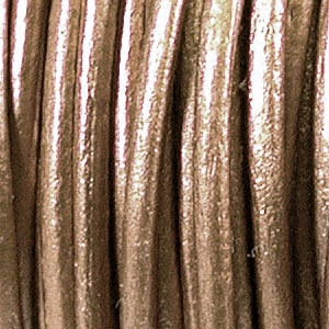 Helby LEATHER CORD, Metallic Bronze, 1 MM, 1FT