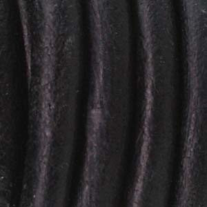 Helby LEATHER CORD, Black Distressed, 2 MM, 1FT