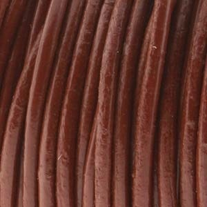 Helby LEATHER CORD, Saddle, 1 MM, 1FT