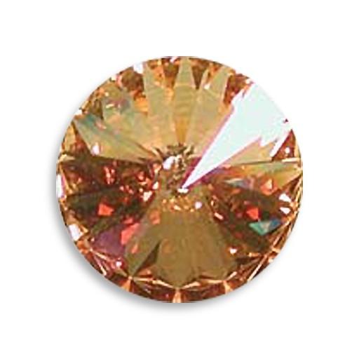 Austrian Swarovski Rivoli, 18 mm, Crystal Brandy