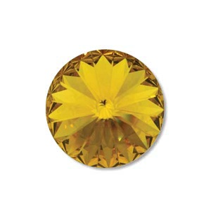 Austrian Swarovski Rivoli, 14 mm, Sunflower