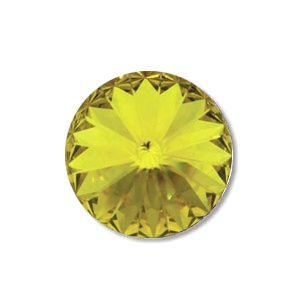 Austrian Swarovski Rivoli, 12 mm, Crystal Lemon