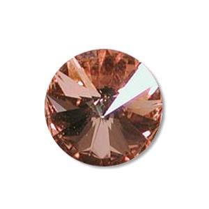 Austrian Swarovski Rivoli, 12 mm, Crystal Rosaline