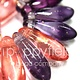 Czech Daggers, 3X11, Purple Mix, 50 pcs