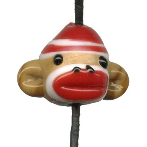 Chinese Lampwork Glass Sock Monkey